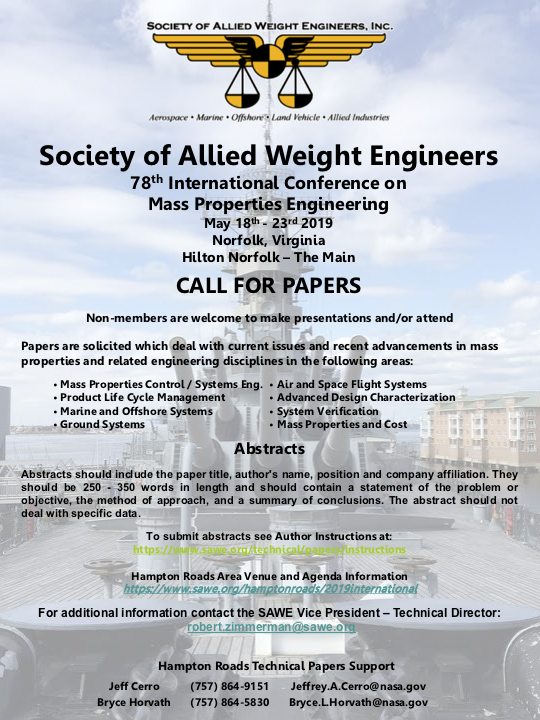 2019 International Conference - Call for Papers