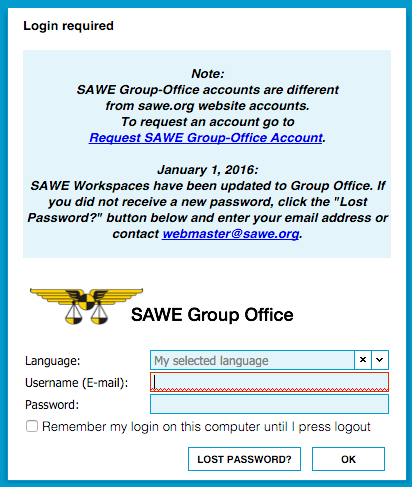 SAWE Group-Office Login